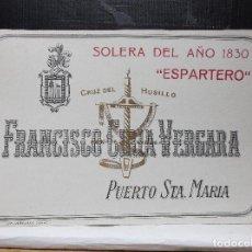 Etiquetas antiguas: ETIQUETA DE UNA BODEGA DE PUERTO DE SANTA MARIA.. Lote 109179551