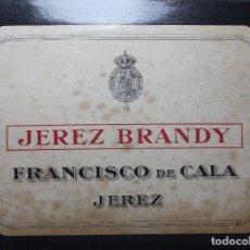 Etiquetas antiguas: ETIQUETA DE UNA BODEGA DE JEREZ.. Lote 109310619