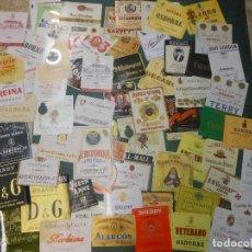 Etiquetas antiguas: 200 ETIQUETAS DE VINOS Y LICORES ANTIGUAS Y MODERNAS VINO BOTELLA JEREZ PUERTO SANTAMARIA. Lote 109445299