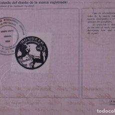 Etiquetas antiguas: MARCAS Y PATENTES REPUBLICA DE CUBA, IRONBEER AGUAS GASEOSAS, 1926. Lote 109488759