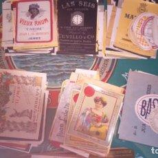 Etiquetas antiguas: GRAN LOTE ETIQUETAS ANTIGUAS JEREZ. SANLUCAR. PUERTO DE SANTA MARIA . Lote 109742915
