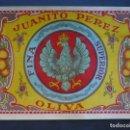 Etiquetas antiguas: ETIQUETA ORIGINAL NARANJAS JUANITO PEREZ, OLIVA. Lote 160982520
