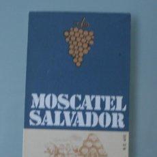 Etiquetas antiguas: ANTIGUA ETIQUETA BODEGAS LOPEZ HERMANOS MALAGA: SELECTO VINO UVA MALAGUEÑA MOSCATEL SALVADOR GOLD. Lote 111843619