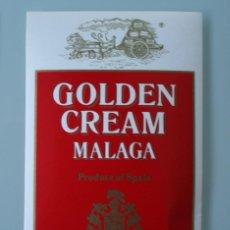 Etiquetas antiguas: ANTIGUA ETIQUETA BODEGAS LOPEZ HERMANOS MALAGA: GOLDEN CREAM VINO DULCE. Lote 111843919