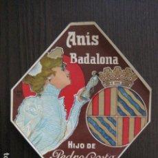 Etiquetas antiguas: ETIQUETA ANTIGUA ANIS BADALONA - PEDRO COSTA - VER FOTOS - (V-13.544). Lote 113293343