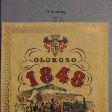 Etiquetas antiguas: ANTIGUA ETIQUETA OLOROSO 1848 OSBORNE.PUERTO DE SANTA MARIA Nº 197. Lote 113297863