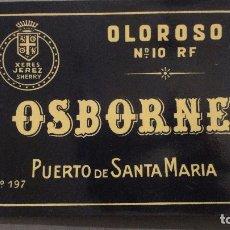Etiquetas antiguas: ANTIGUA ETIQUETA JEREZ SHERRY OLOROSO Nº 10.OSBORNE.PUERTO DE SANTA MARIA.. Lote 113298215