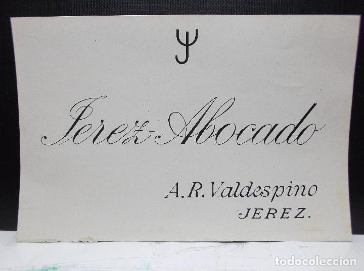 ETIQUETA DE UNA BODEGA DE JEREZ FRA.... ANTIGUA. (Coleccionismo - Etiquetas)