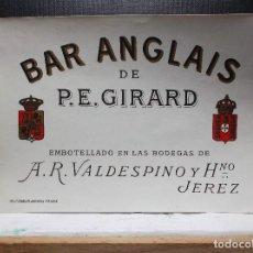 Etiquetas antiguas: ETIQUETA DE UNA BODEGA DE JEREZ FRA.... ANTIGUA.. Lote 113366875