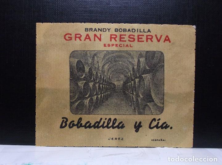ETIQUETA DE UNA BODEGA DE JEREZ FRA... ANTIGUA. (Coleccionismo - Etiquetas)