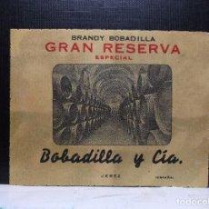 Etiquetas antiguas: ETIQUETA DE UNA BODEGA DE JEREZ FRA... ANTIGUA.. Lote 113373835