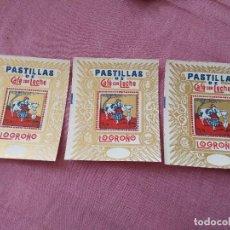 Etiquetas antiguas: ETIQUETAS PASTILLAS DE CAFÉ CON LECHE LOGROÑO. Lote 171463492