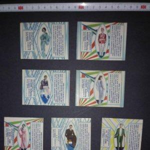 Preciosa colección de etiquetas 9 envoltorios de caramelos en excelente estado de conservación
