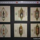 Etiquetas antiguas: 6 ENVOLTORIOS DE CARAMELOS DE BEBIDAS ALCOHOLICAS. Lote 113964579