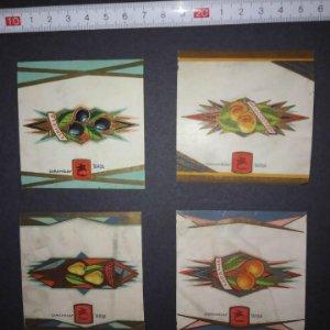 4 envoltorios de caramelos con relieve. Excelente estado de conservación, Caramelos Tardá