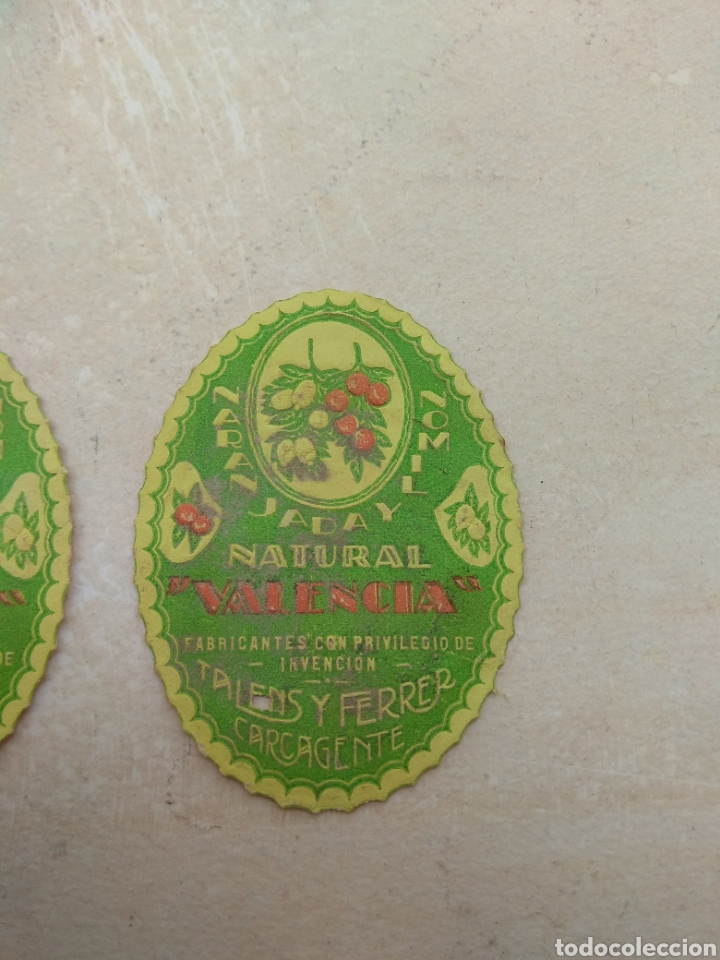 Etiquetas antiguas: Etiqueta Naranjada y Limón Natural Valencia - Talens y Ferrer Carcagente - Carcaixent - Foto 3 - 114092547