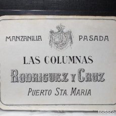 Etiquetas antiguas: ETIQUETA DE UNA BODEGA DE PUERTO SANTA MARIA. ANTIGUA.. Lote 114167035