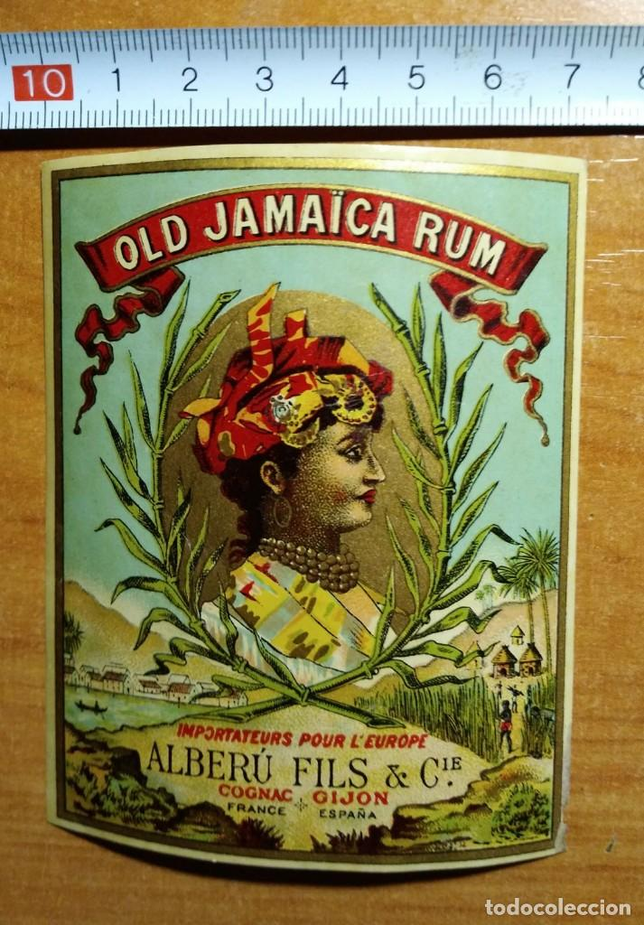 ANTIGUA ETIQUETA OLD JAMAICA RUM