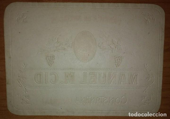 Etiquetas antiguas: Etiqueta Fabrica de anisados MANUEL M.CID Constantina Sevilla - Foto 2 - 114783511