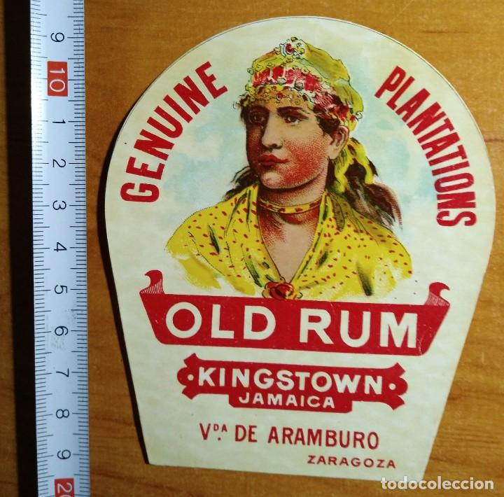 Etiqueta GENUINE PLANTATIONS - OLD RUM - Kingstown Jamaica - 114790947