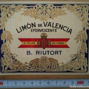 Etiqueta Limón de Valencia efervescente B.Riutort