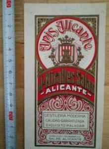 ANÍS ALICANTE J.Miralles Salas Alicante Relieve Con líneas imprenta