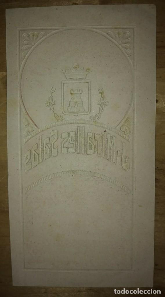 Etiquetas antiguas: ANÍS ALICANTE J.Miralles Salas Alicante Relieve Con líneas imprenta - Foto 2 - 115127751