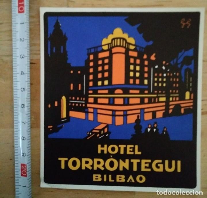 Etiqueta Hotel TORRONTEGUI Bilbao