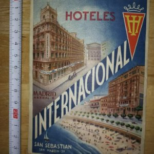 Etiqueta Hotel Internacional Barcelona San Sebastian