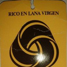 Etiquetas antiguas: ETIQUETA CARTULINA TEXTIL RIBA DE SABADELL. Lote 115312327