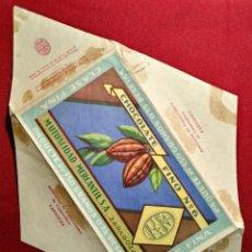 Etiquetas antiguas: ETIQUETA AÑOS 40 ENVOLTORIO CHOCOLATE FINO NUMERO 6 ZARAGOZA. Lote 115461387