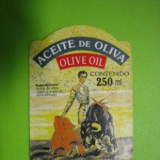 Etiquetas antiguas: ETIQUETA PEGATINA ACEITE DE OLIVA MANOLETE. Lote 119158115