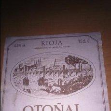 Etiquetas antiguas: ETIQUETA VINO RIOJA BODEGAS OLARRA . Lote 117648867