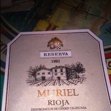 Etiquetas antiguas: ETIQUETA VINO RIOJA MURIEL 1991. Lote 117805847