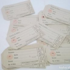Etiquetas antiguas: LOTE DE 15 ETIQUETAS ANTIGUAS PARA BULTOS FACTURACION RENFE. Lote 118041587