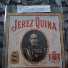 Etiquetas antiguas: JEREZ QUINA. Lote 119075648