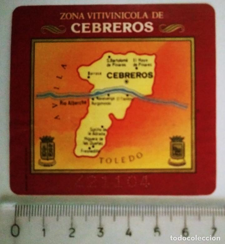 ETIQUETA ZONA VITIVINÍCOLA DE CEBREDOS (Coleccionismo - Etiquetas)