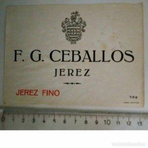 ETIQUETA F.G. CEBALLOS JEREZ FINO JEREZ DE LA FRONTERA