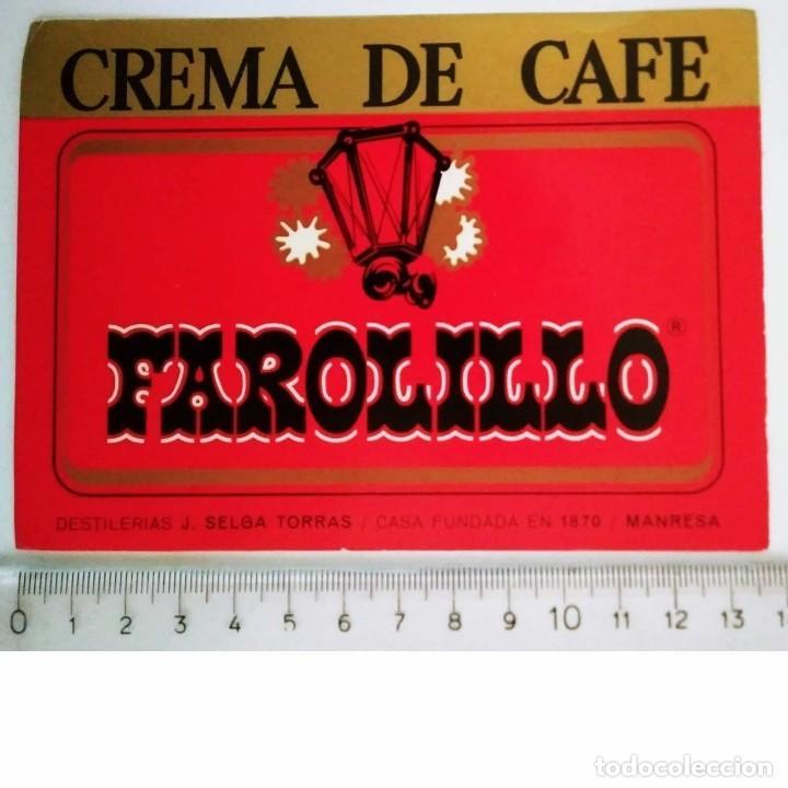 ETIQUETA CREMA DE CAFE FAROLILLO DESTILERÍAS J.SELGA TORRAS MANRESA (Coleccionismo - Etiquetas)