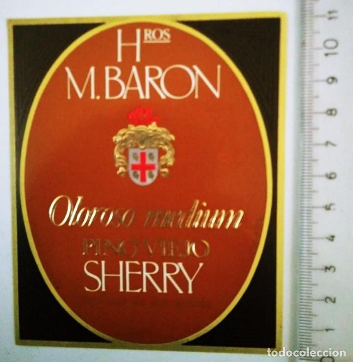 ETIQUETA HROS M,BARON OLOROSO MEDIUM FINO VIEJO SHERRY - 119873175