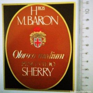 ETIQUETA HROS M,BARON OLOROSO MEDIUM FINO VIEJO SHERRY
