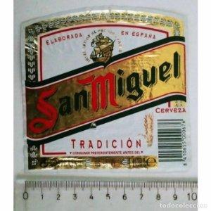 ETIQUETA CERVEZA SAN MIGUEL