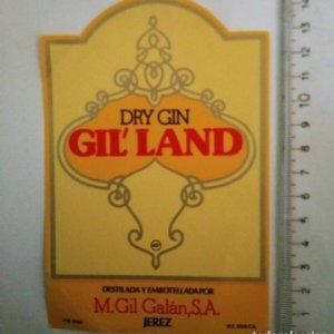 ETIQUETA DRY GIN GIL LAND M.GIL GALÁN JEREZ