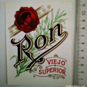 ETIQUETA RON VIEJO SUPERIOR