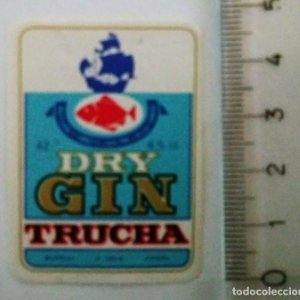 ETIQUETA DRY GIN TRUCHA