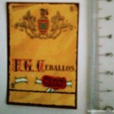 Etiquetas antiguas: ETIQUETA F.G. CEBALLOS JEREZ. Lote 119896311