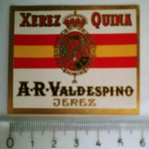 ETIQUETA XEREZ QUINA A.R. VALDESPINO JEREZ