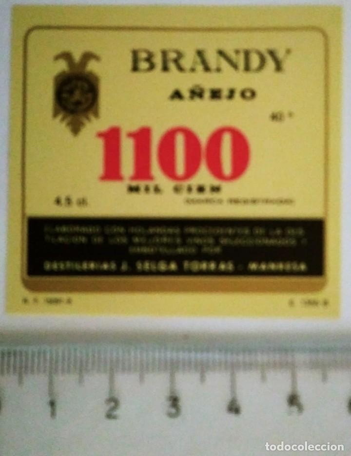 ETIQUETA BRANDY AÑEJO 1100 MIL CIEN (Coleccionismo - Etiquetas)