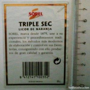 ETIQUETA SOREL TRIPLE SEC LICOR DE NARANJA