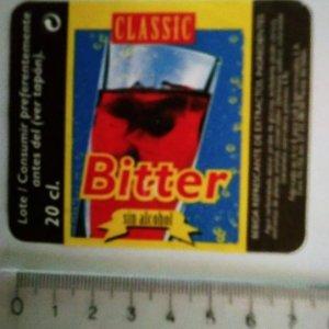 ETIQUETA CLASSIC BITTER SIN ALCOHOL